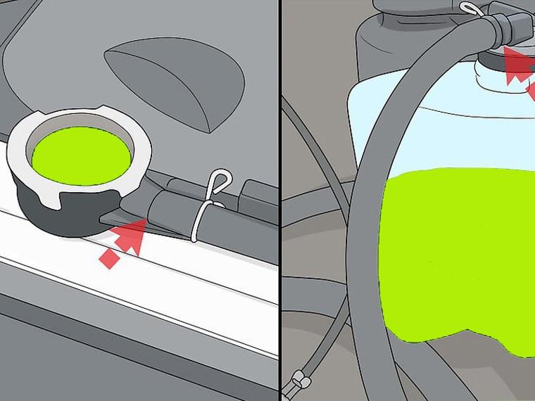Pastikan selang penghubung antara radiator dengan tangki overflow dalam kondisi baik.